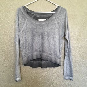 We the free long sleeve burnout top